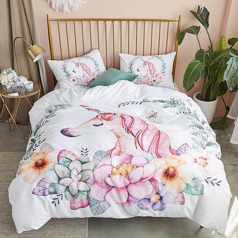 Cartoon Bedding Set For Home Hotel Quality 100% Polyester Duvet Cover Sets US Size Ventilation Comfortable Bedding Set