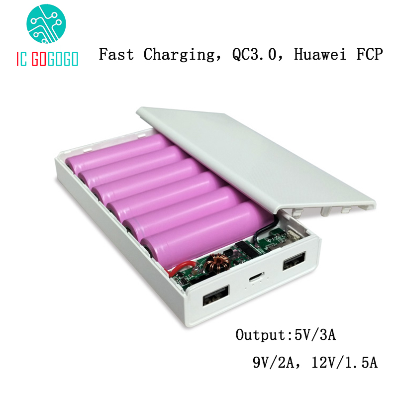 US $8 93  5V/9V/12V 6S 18650 battery for QC3 0/AFC/FCP max 18W Mobile Power  Bank Charger Circuit Board Kits-in Replacement Parts & Accessories from