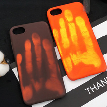 Tfshining PU Thermal Sensor Heat Sensitive Case For iphone X XR XS Max Color Changing Cases Cover For iphone 6 6s 7 8 Plus SE 5S