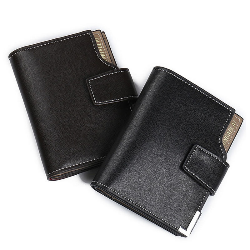THINKTHENDO Brand New Fashion Men Wallets Faux Leather Bifold Hasp PU Wallet ID Credit Card Holder Coin Purse Pockets Clutch zelda wallet bifold link faux leather dft 1857