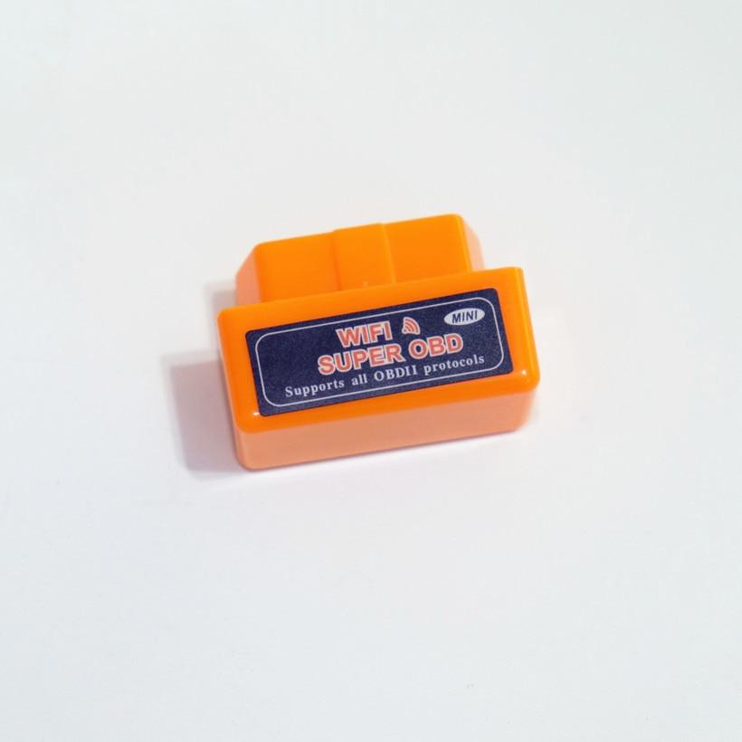 10pcs/lot Top selling SUPER MINI ELM327 WIFI OBD2 Scanner V1.5 Smart Car Diagnostic Interface ELM 327 Wireless Tool Three Colors