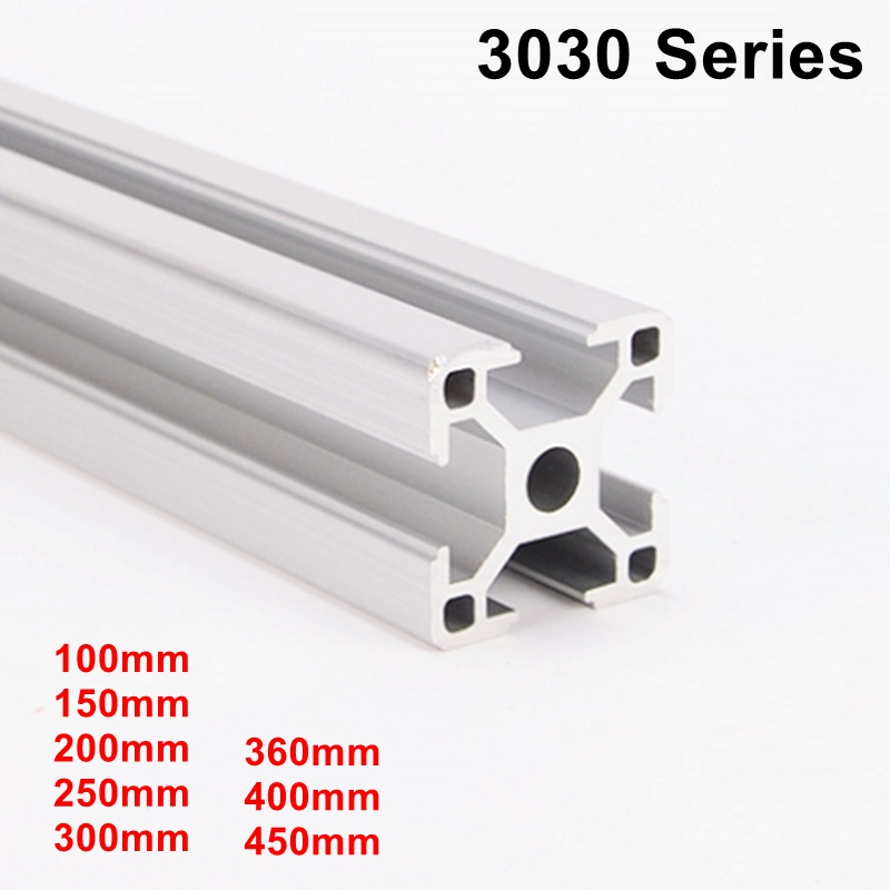 Industrial European Standard 3D Printer Frame Oxide Anodized Aluminum Extrusion Profile 3030 Series