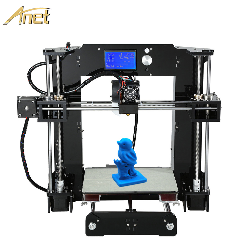 Aluminum Extrusion Anet A6 Big Print Size220 220 250mm Reprap Prusa i3 3D Printer Kit DIY