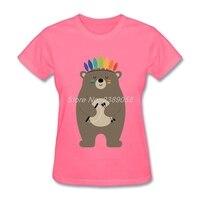 Women T Shirt Short Sleeve Bear Normal Be Brave Comfortable Summer tshirt For Womens