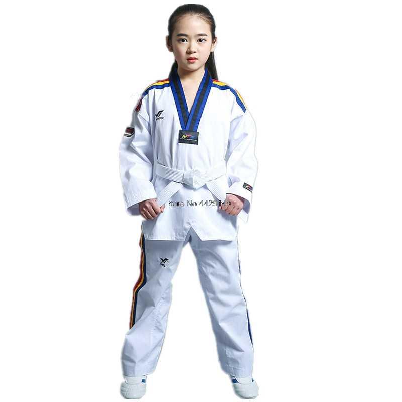 Uniforme De Karate De Taekwondo Para Niños Y Adultos Ropa De Manga Larga Para Entrenamiento De Karate Taekwondo T125 Productos De Culturismo Y Otros Deportes Aliexpress