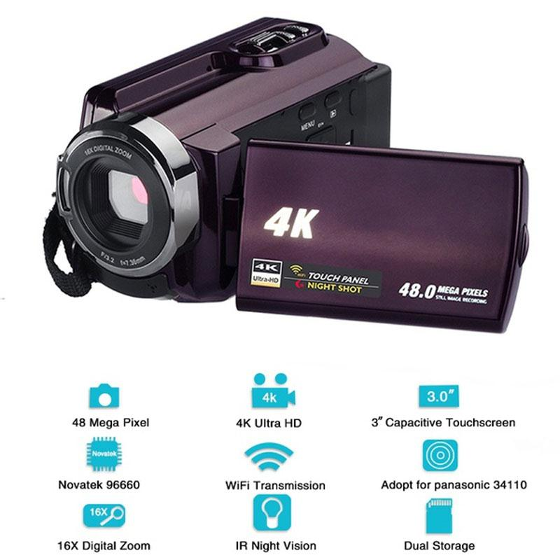 HD Video Digital Camera Wedding Record Photography Camera Recorder Premium Small Shooting DVR Digital Camcorder DV Camcorder image