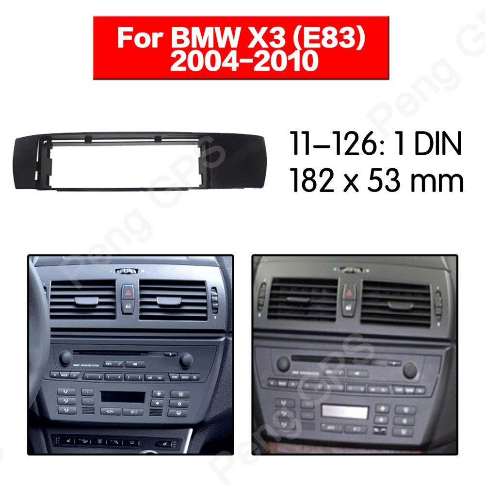 1 DIN Autoradio Fascia Installer kit d'outils pour habillage Raccord Cadre Tableau De Bord Pour BMW X3 (E83) 2004 2005 2006 2007 2008 2009 2010 cadre Audio