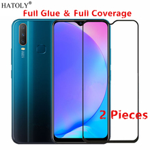 2Pcs OPPO Reno Z Glass Tempered for Film 9H HD Full Glue Coverage Hard Screen Protector
