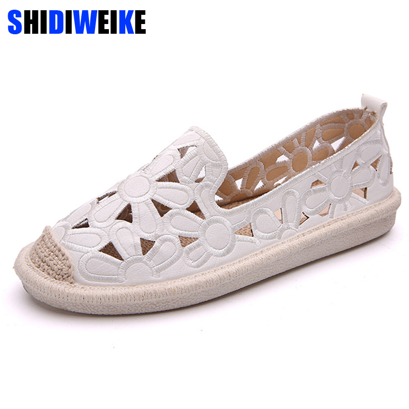 Womens Flats Shoe Embroidery Fisherman Female Shoe 2018 Spring Summer Women Shoes Cut Out Hollow Out Casual Shoes M826Womens Flats Shoe Embroidery Fisherman Female Shoe 2018 Spring Summer Women Shoes Cut Out Hollow Out Casual Shoes M826