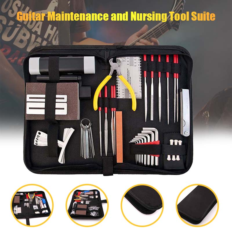 Instrument Maintenance guitar Repair tools Cleaning Tech Tool Kit for Guitar Bass Parts Guitar Repairing Tool