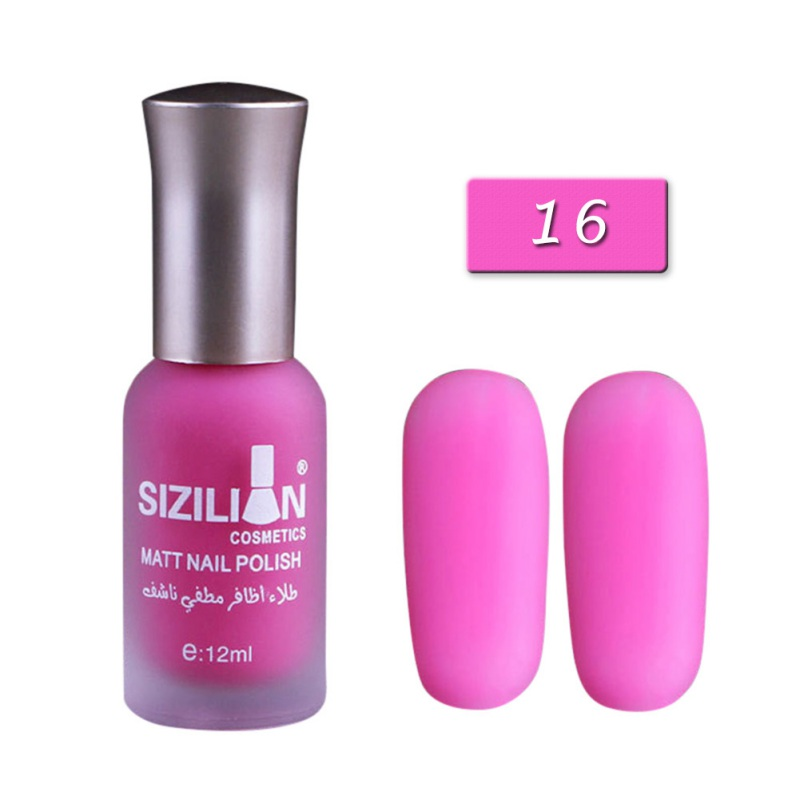 40 Colors Matte Nail Polish Dull Nails Polish Fast Dry Long-lasting Fashion DIY Nail Art Varnish Lacquer 12ml