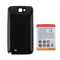 High Capacity 6500mAh Replacement Extended Phone Battery Black Back Cover For Samsung Galaxy Note II Note