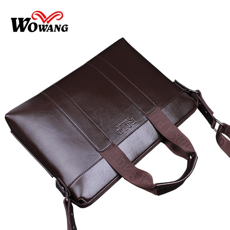 2016 Men Casual Briefcase Business Shoulder Genuine Composite Leather Travel Bag Men Messenger Bags Computer Laptop Handbag Bag