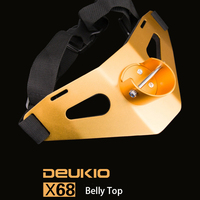 Deukio Pesca engranaje aviación aluminio Belly Top 11 pulgadas 325g arrastrando Pesca nylon varilla cinturón oro Eva almohadilla protectora pesca