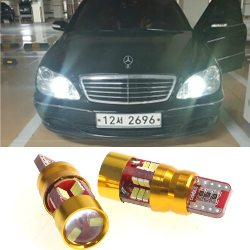 T10 W5W <font><b>LED</b></font> Canbus Car Dar Light Accessories For Mercedes Benz <font><b>W202</b></font> W220 W124 W211 W222 X204 W164 W204 C E W203 W210 GLK R ML image