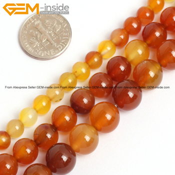 cac61e5b0901 Original Natural Carnelian DE LA ágata piedra perlas para joyería hacer  6-10mm 15 inches DIY FreeShipping Gem -En el interior
