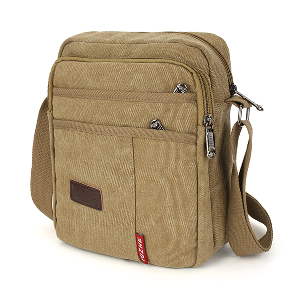 2016 New Men s Canvas Leisure Crossbody Bag Package