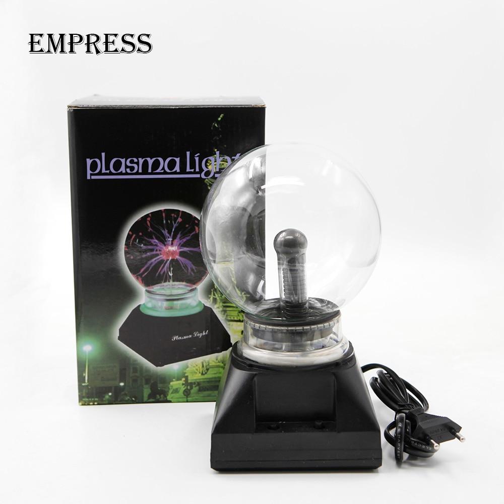3 4 5 6 inch Crystal Plasma Ball Magic Sphere Light Electric Lightning ball Novelty Table Lamp Party Decorative Box Christmas