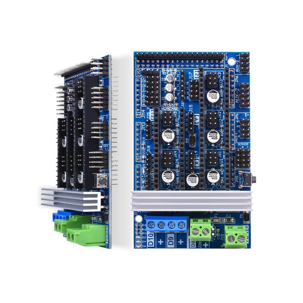 Rampes 1.6 3D imprimante contrôleur carte mère Base rampes 1.5 rampes 1.4 RepRap + Mega 2560 R3 + 12864 écran LCD + TMC2130/DRV8825 - 3