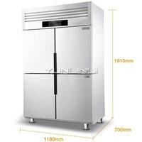 Коммерческих холодильного шкафа двойной Температура морозильник 900L большой Ёмкость холодильник BCD 900A