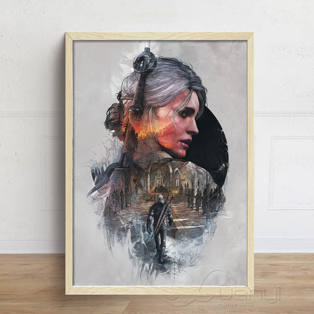 The Witcher 3 Hunting Wild Game Hot Game Artistic Posters And Prints Wall Art Canvas Painting Wall Pictures For Living Room