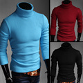 New High Quality knitted Sweater Knitting Autumn Winter Men's TurtleNeck Sweater Jumpers Pullover Blusa Masculina MQ207