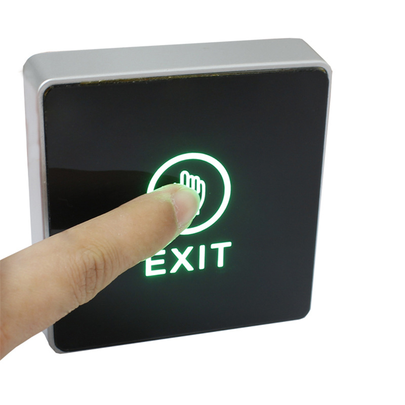 NO/NC/COM Backlight LED Touch Exit Button Wall Mount Exit Button Push Door Release Exit Button Switch For Access Control System lpsecurity stainless steel door access control led backlit led illuminated push button door lock release exit button switch