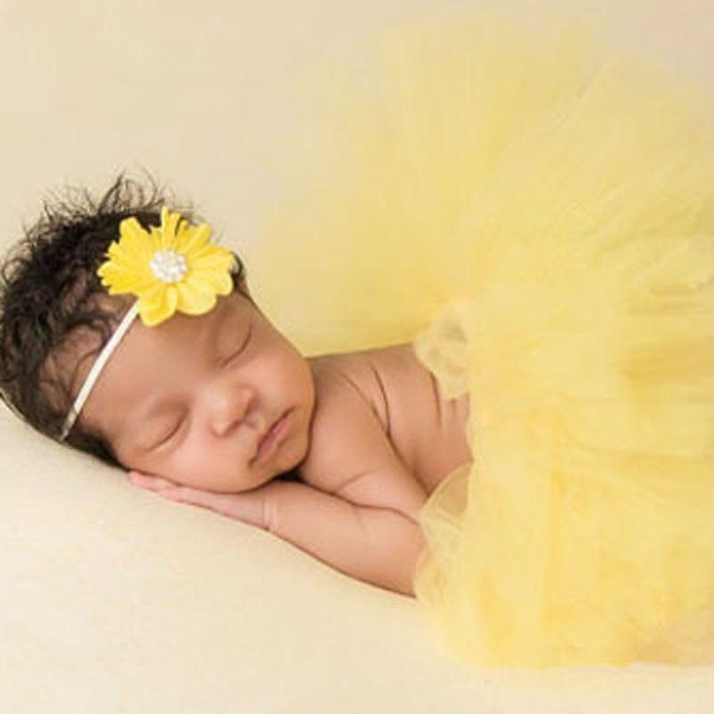 Super-Sweet-Pink-and-Ivory-Precious-Newborn-Tutu-and-Flower-Headband-Set-Baby-Photography-Props-Girls-Tutu-Skirt-TS028-1