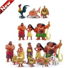 New Conjunto Figuritas Vaiana Anime Figures Toys Vaiana Moana Set FP7