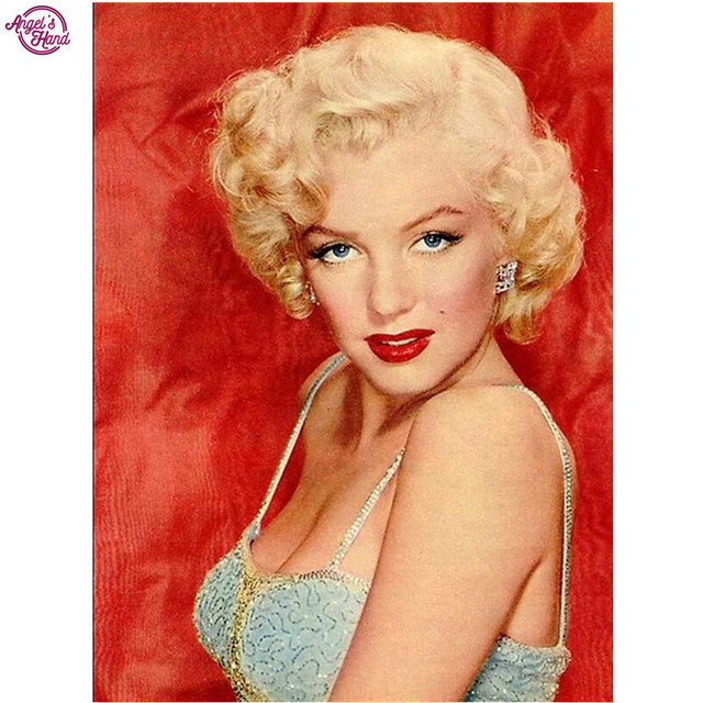 Full square diamond 5D DIY diamond embroidery Marilyn Monroe diamond  painting Cross Stitch Rhinestone mosaic decoration gift 4d11d04735ff