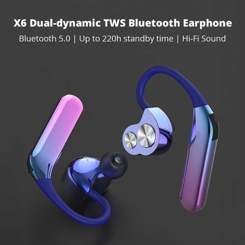 Беспроводной с наушным креплением Bluetooth наушники TWS hi-fi звук в ухо Binuaral наушники портативные Беспроводные спортивные наушники с микрофоном