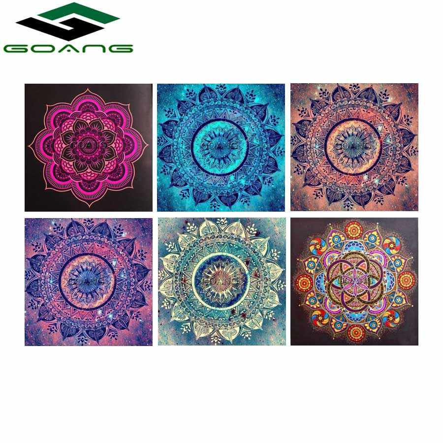GOANG Diamond Embroidery Flowers 5d diy diamond painting cross stitch full square diamond Mosaic paintings mandala home decor