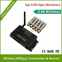 DHL Fast Free Shipping Portable lcd Wireless DMX Receiver/Transmitter 2.4G