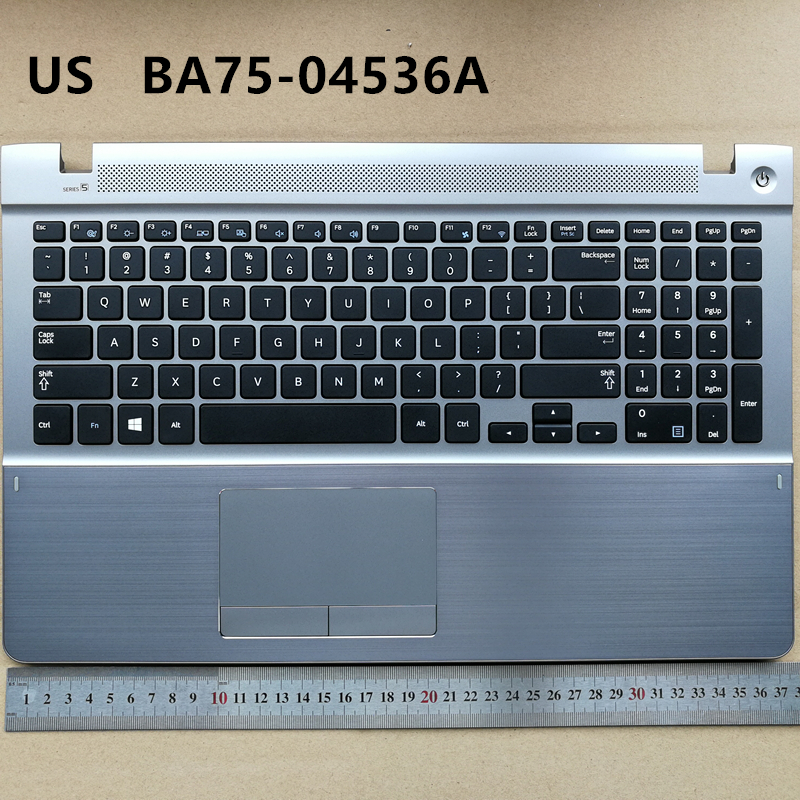 все цены на US new laptop keyboard with touchpad palmrest for Samsung 450R5V 370R5E 450R5E 510R5E 470R5E BA75-04536A