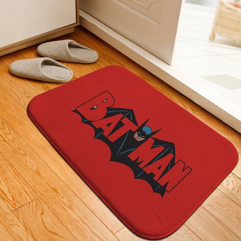 Bath Mat Hero Batman Printed Rug Toilet Carpet Flannel Non Slip Absorbent Bathroom Floor 40x60cm Custom