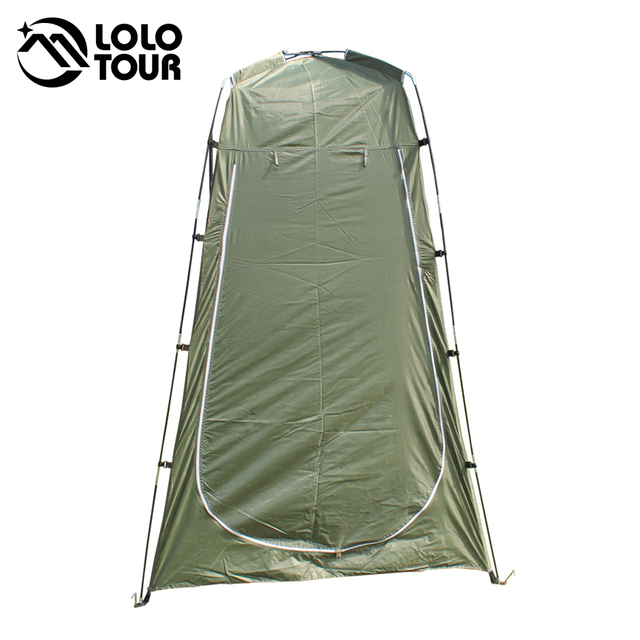 Lightweight Portable Camping Shower tent awning canvas folding Outdoor Toilet Room Privacy showing Changing clothes tente white 3