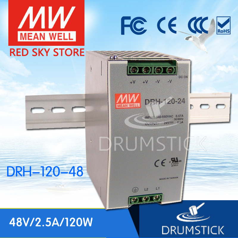 hot-selling MEAN WELL DRH-120-48 48V 2.5A meanwell DRH-120 48V 120W Single Output Industrial DIN RAIL Power Supply [Real6]