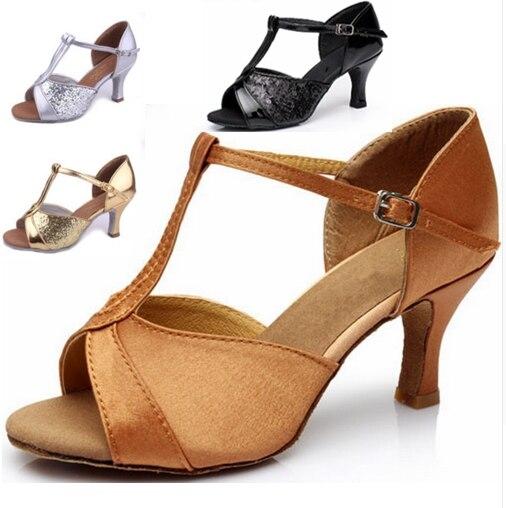 Girls Women s Ballroom Tango font b Salsa b font Latin Dance font b Shoes b