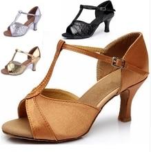 Girls Women's Ballroom Tango Salsa Latin Dance Shoes High Heel 7cm / 5cm Sales Silver Gold Black Tan Wholesale