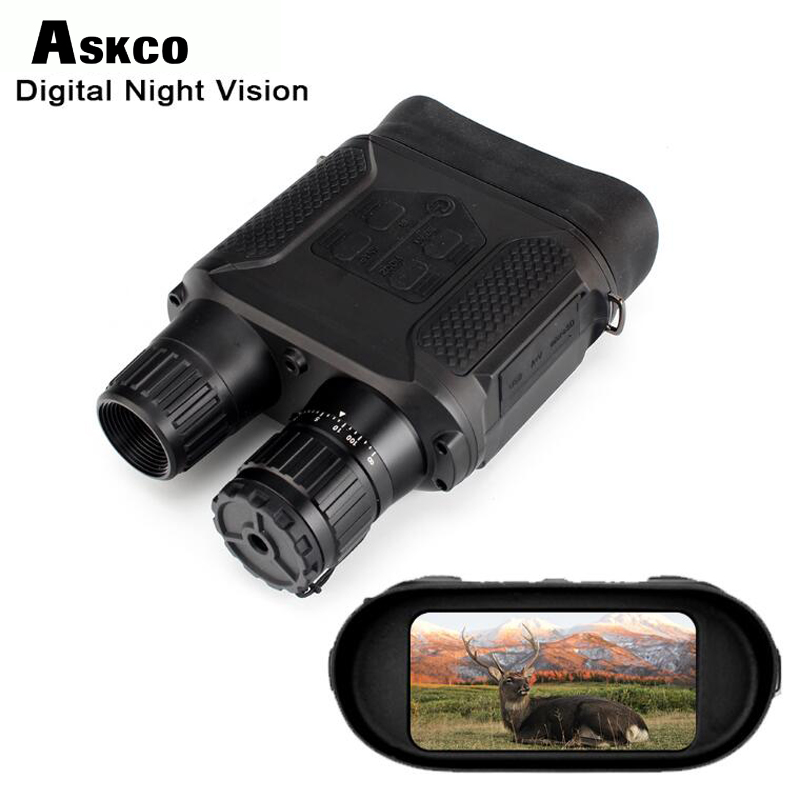 Askco 7X31 Digital Night Visions Binoculars Hunting Night Vision Built-in IR Illuminator Photo Video Recorder 2 Inch TFT Display