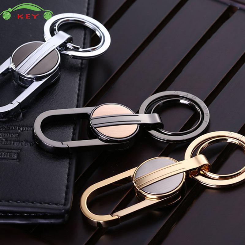 High-end Car Men Metal Keychain Auto Business Keyring For Skoda Mazda Lada Dodge Toyota Honda Volvo Jaguar Jeep Ford Key Holder