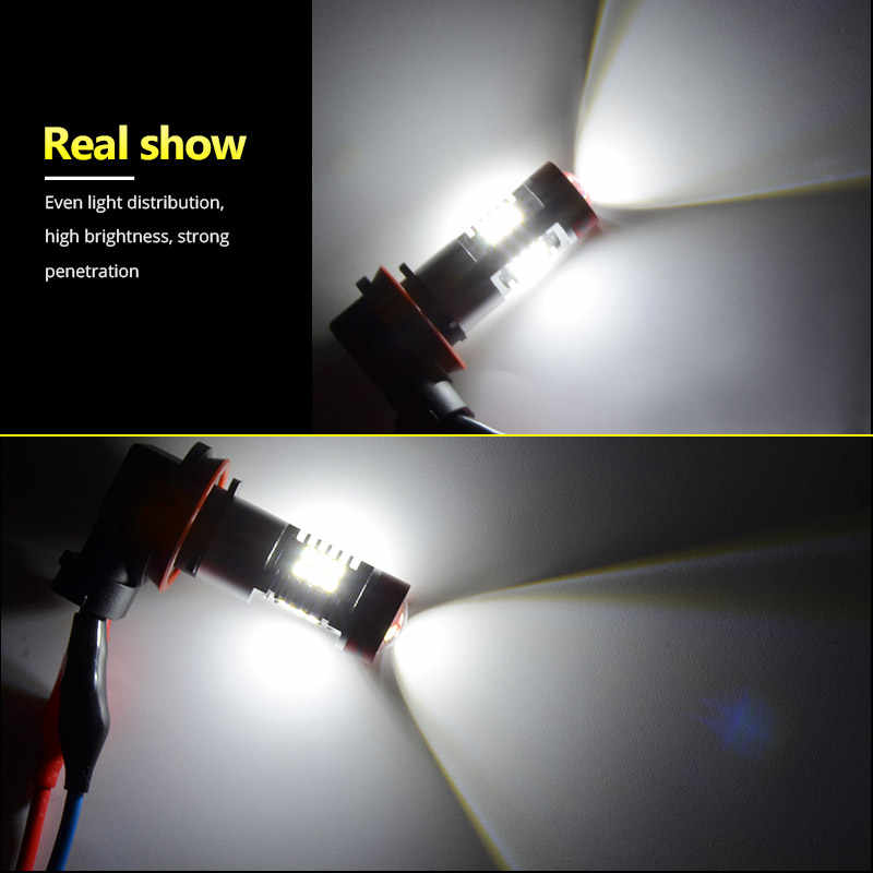 NAO H11 LED Car Light H8 H10 led bulbs h16 5202 9005 1200lm car light 12V hb3 auto 9006 hb4 h9 Driving Running Lights lamp 6000K