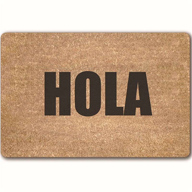 personality word indoor outdoor mat rubber doormats antislip rectangle entrance door mats southeast asia