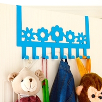 Lovely Colorful SUS 304 Stainless Steel Hook Clothes Bathroom Hardware Robe Towel Hook Hat Bag Door Hooks Holder Cute Cloud Wall