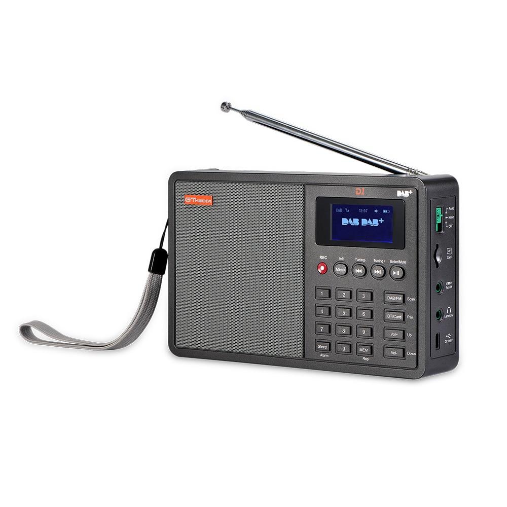 GTMEDIA Bluetooth D1 DAB + FM радио 1,8 ''цифровой ЖК дисплей TF карты MP3 музыкальных плееров