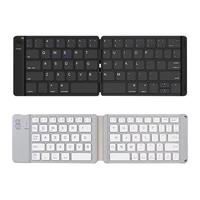 SK B047 Portable Leather Folding Bluetooth Wireless Laptop Tablet Keyboard