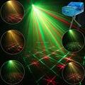 ESHINY Мини R & G Лазерная 12 Шаблоны Проектор Клуб Бар свет танец Диско главная Xmas партия DJ Освещение Сцены показать + Штатив Y12