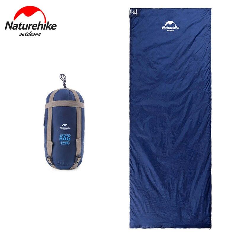 Naturehike 1 person Envelope Sleeping Bag Outdoor Summer Camping Travel Sleeping Bag Liner NH16S003 L/LW180