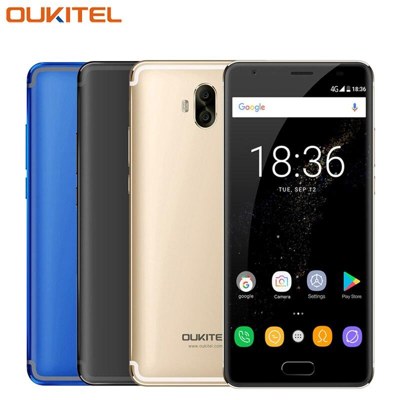D'origine OUKITEL K8000 Mobile Téléphone 5.5 pouce Écran 64 GB ROM 4 GB RAM MTK6750T Octa base Android 7.0 Batterie 8000 mAh Smartphone