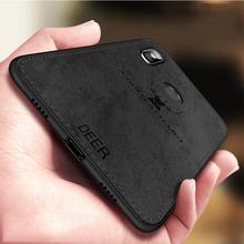 For Xiaomi A2 Lite Case Cloth Distressed Hard Back Cover Soft Frame Fabric Fundas Xaomi Poco F1 8 6 5 Max 2 3 Redmi 6 Pro 5 Plus